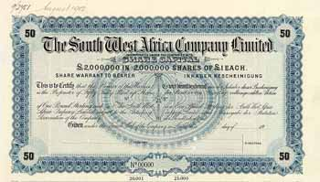 South West Africa Co.