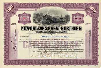 New Orleans Great Northern Railroad (OU C.W. Goodyear jr)