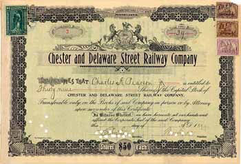 Chester and Delaware Street Railway
