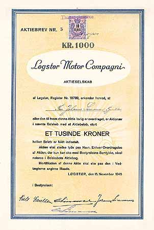 Logstor Motor Compagni A/S