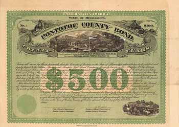 Pontotoc County Bond - Selma, Marion and Memphis Railroad