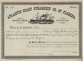 Atlantic Coast Steamship Co. of Florida