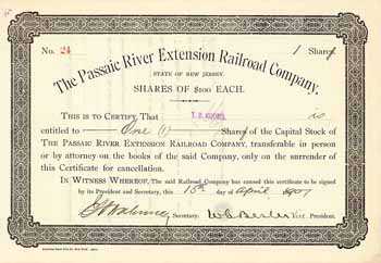 Passaic River Extension Railroad