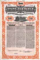 State of San Paulo 5 % Treasury Bonds 1913