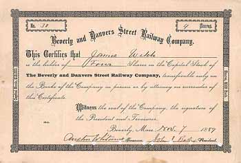 Beverly and Danvers Street Railway