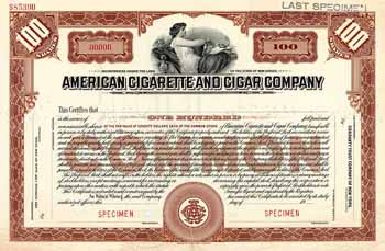 American Cigarette and Cigar Co.