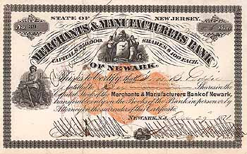 Merchants & Manufacturers Bank of Newark