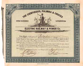 Cienfuegos, Palmira & Cruces Electric Railway & Power Co.