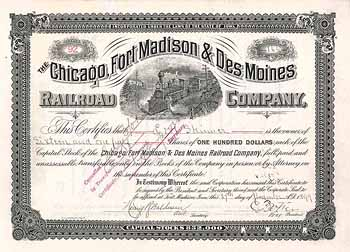 Chicago, Fort Madison & Des Moines Railroad