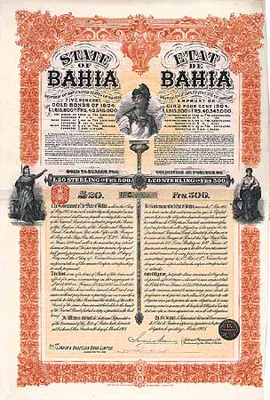 State of Bahia 5 % Gold Loan of 1904