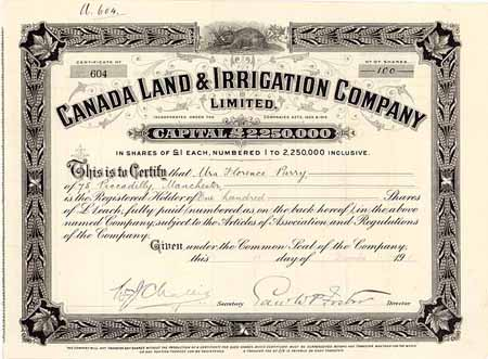 Canada Land & Irrigation Co.