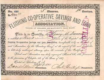 Flushing Co-operative Savings and Loan Association