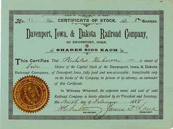 Davenport, Iowa & Dakota Railroad